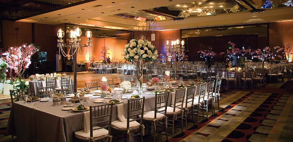 Hilton Los Angeles Universal City Wedding Reception